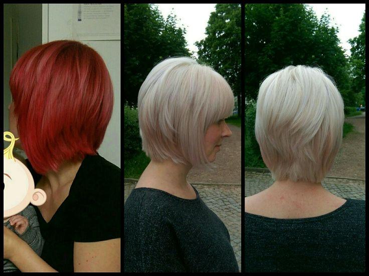 #von knallig Rot auf Blond Dank Olaplex#