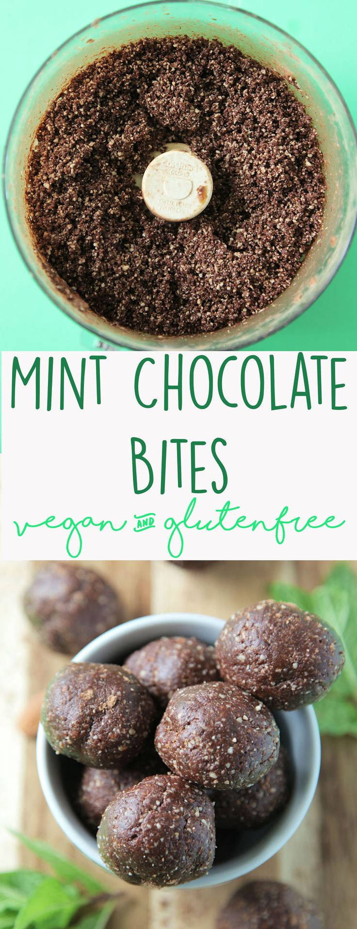 These healthy date and nut balls are naturally sweetened and perfectly flavored with cacao and mint for the perfect afternoon snack!