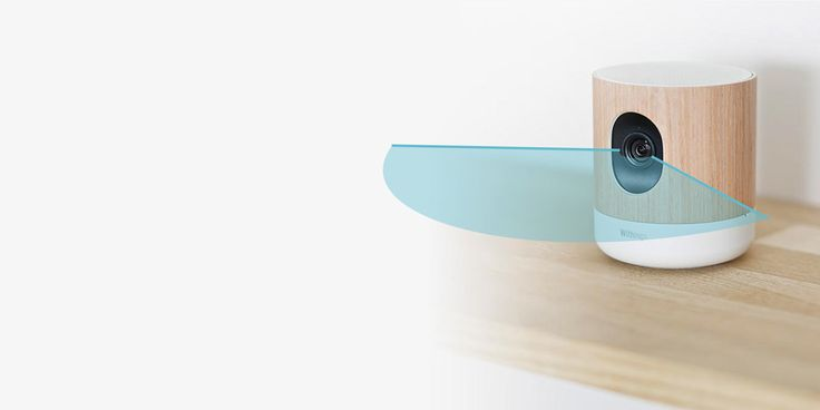 Withings home camera. Night vision, speaker, microphone, air quality.