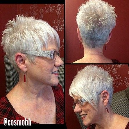 Spikey Short Haircuts for Women Over 50