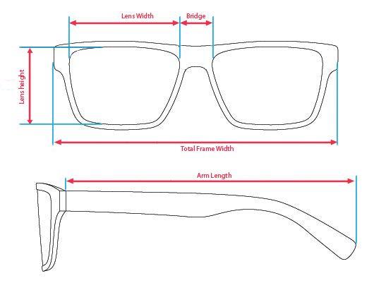 Size of Eyeglasses