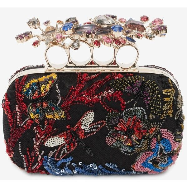 Alexander McQueen Beaded Embroidered Clutch ($4,595) ❤ liked on Polyvore featuring bags, handbags, clutches, alexander mcqueen, multicolour, sequin purse, colorful purses, sequin handbags, alexander mcqueen handbags and beaded purse