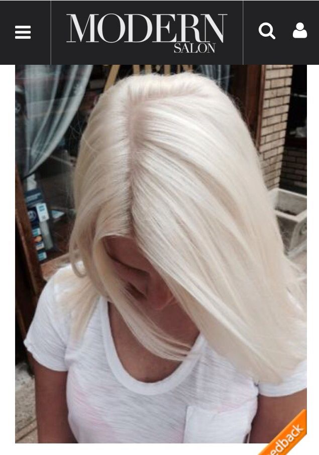 From modern salon, beautiful icy blonde!