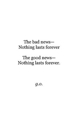 the good and the bad..