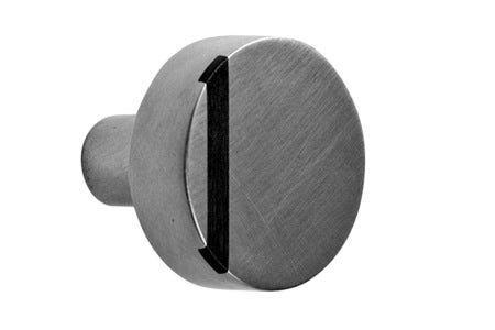 Round Flat Inlay Door Knob  Contemporary, Transitional, Metal, Wood, Door by Sun Valley Bronze