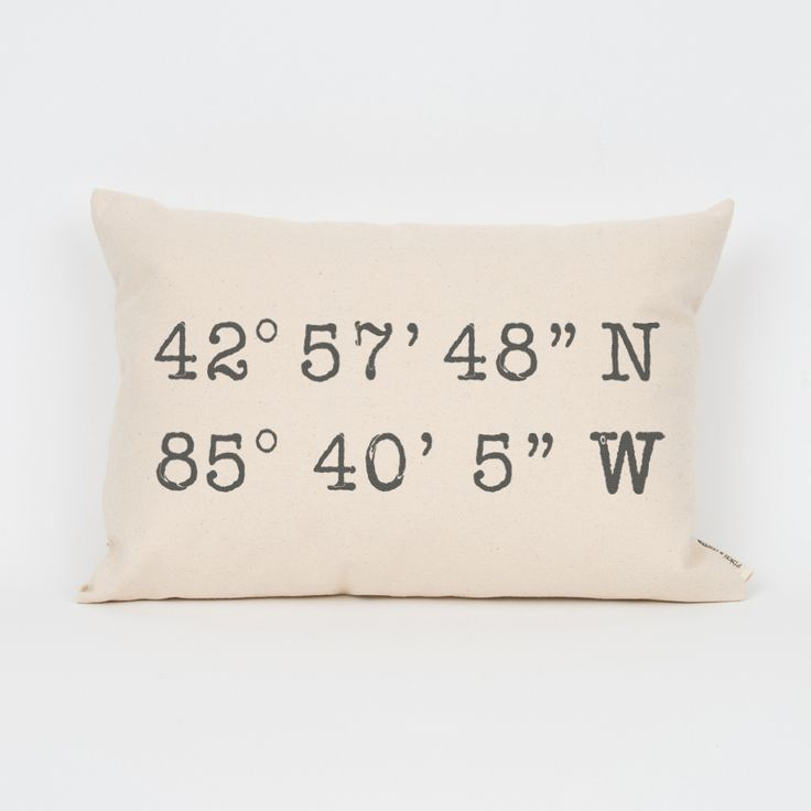 Custom Coordinates Pillow