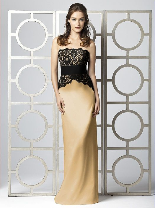 Fancy Black and gold dress with lace bodice detailing
