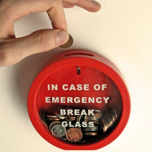Emergency Break Glass Money Box $ 15   – Laugh