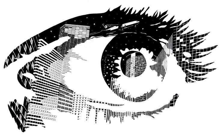 The world in my eye, 2007.  Pen and paper.