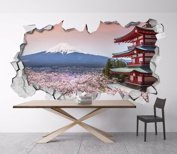 Apply this Mount Fuji 3D Broken Wall in any flat surface (walls, windows, doors, furniture).  Decor vinyl for your home.  If you are the kind of person that are looking for a piece of art in your …