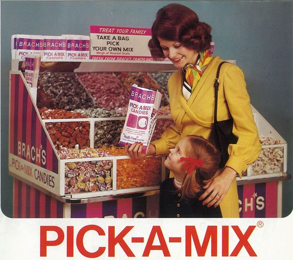 Brach's Pick-a-Mix display in the grocery store.