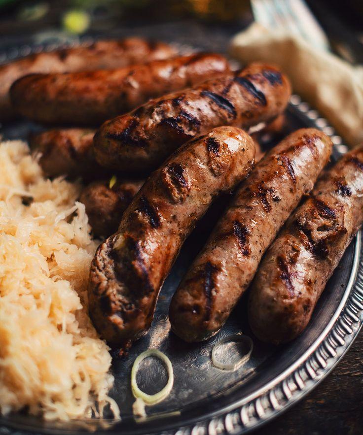 Saucisses Bratwurst aux poireaux et à la bière