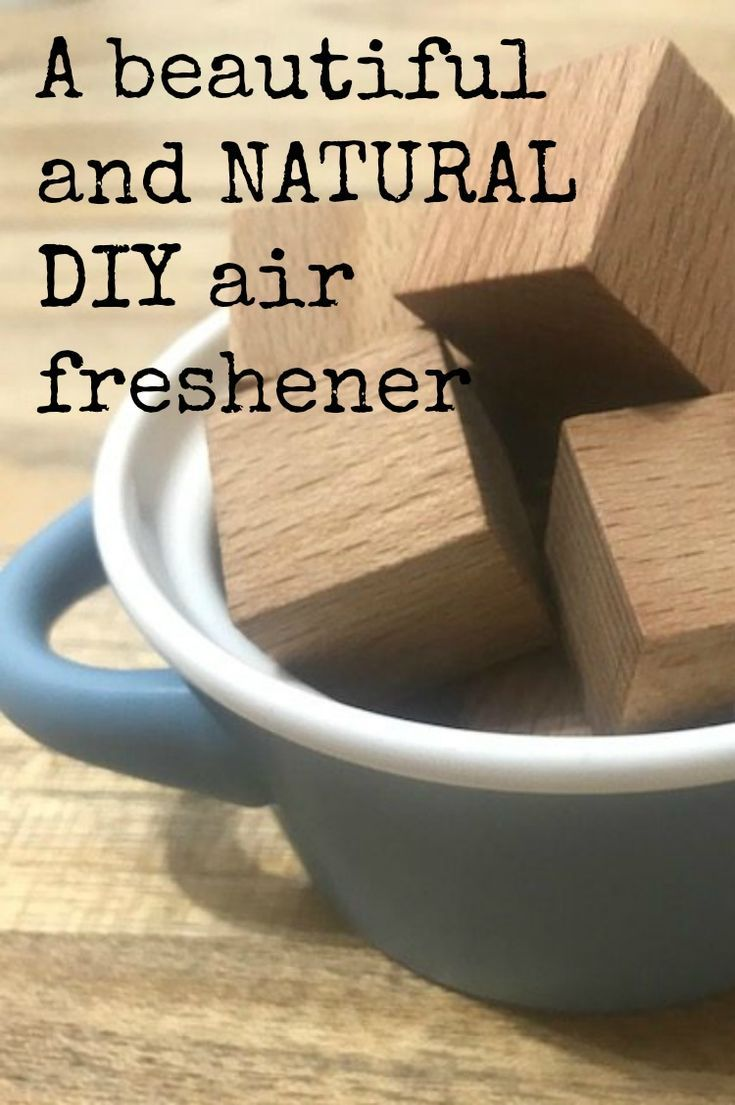DIY Air Freshener with wooden blocks and mandarin oil - a really simple and natural homemade air freshener that will take you less than 5 minutes to make and which can easily be revitalised with just a little oil so a cheap and frugal fragrance for the home and just so much better for our family home #DIY #SCENT #airfreshener