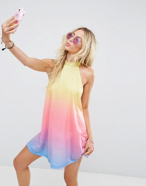 ASOS Beach Rainbow Ombre Halter Cover Up  £18.00