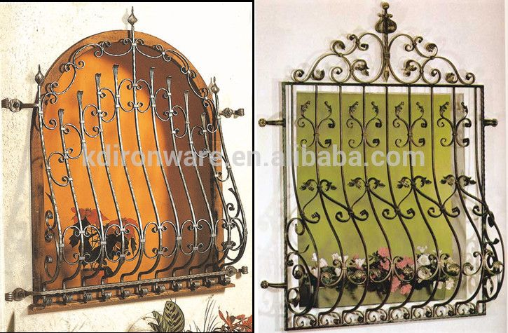 Decorative Wrought Iron Window Grills Design For Sliding Windows ...