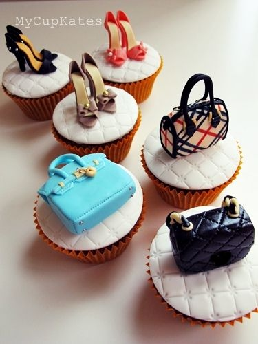 Shoes & Bags Cupcakes by @Kate Kang...my daughters would love these too cute.