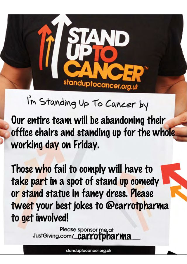 Our pledge #Standup2cancer