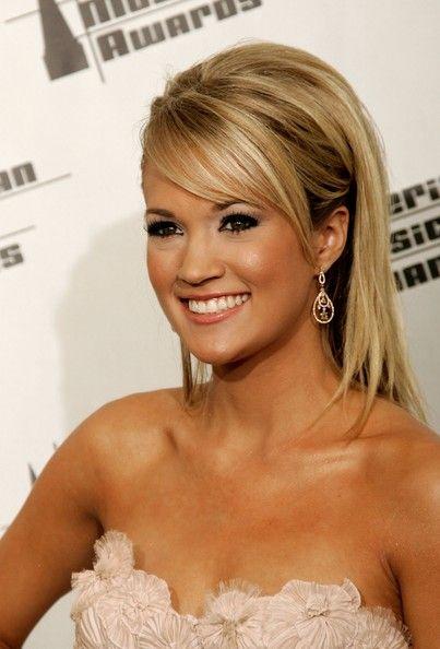 teased haiiiirr: Hair Colors, Hairstyles, Makeup, Beautiful, Side Bangs, Cute Hair, Carrie Underwood, Hair Style, Carrieunderwood