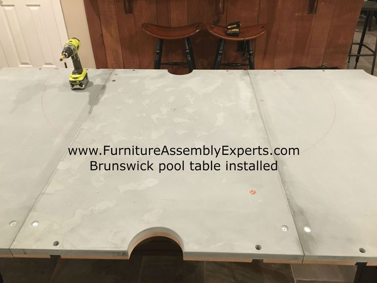 Brunswick billiards pool table assembled for a customer in upper marlboro Maryland by Furniture Assembly Experts