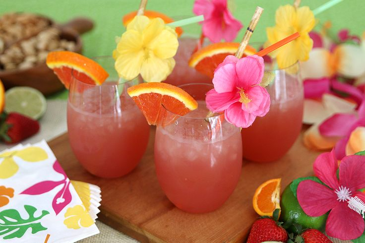 luau party pineapple punch recipe