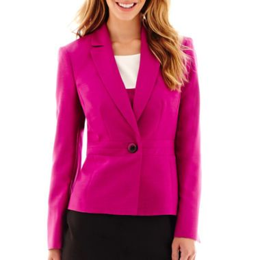b7b44232346 Black Label by Evan-Picone One-Button Notch-Collar Jacket found at