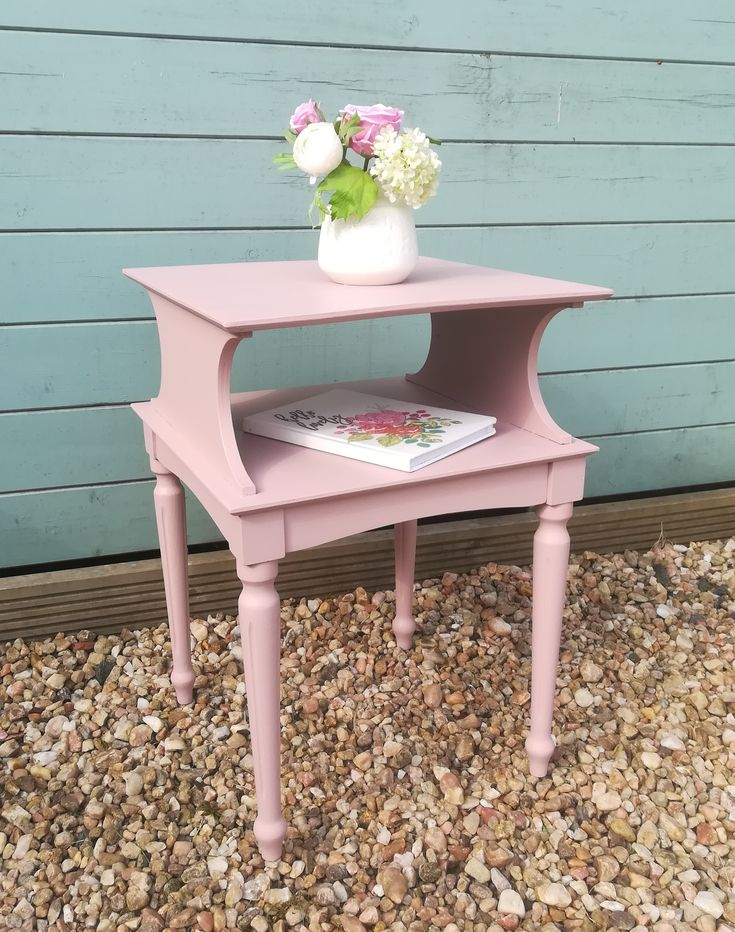 Pink Bedside Table: Beautiful Side Table / Bedside Table Painted In Frenchic