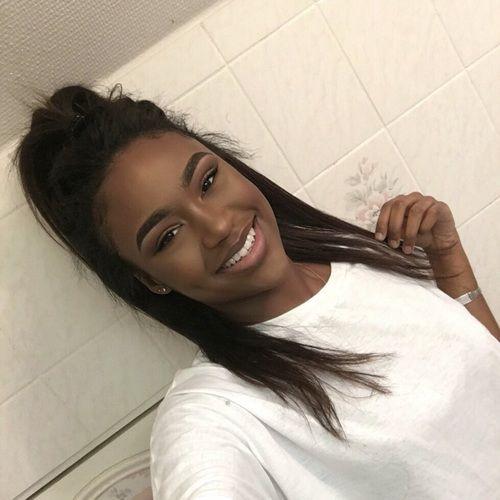 Image de girl, black, and smile