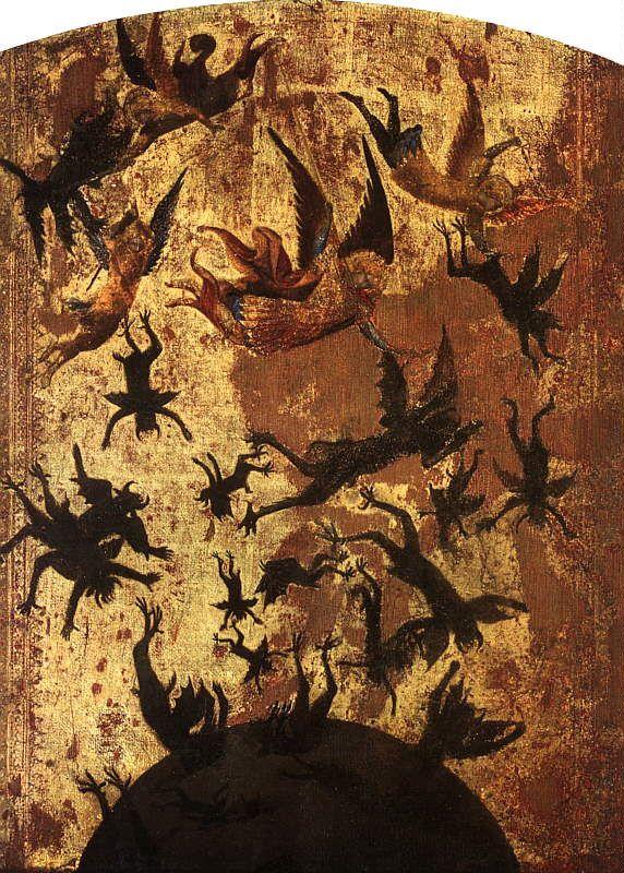 Maestro degli angeli ribelli - Caduta degli angeli ribelli e San Martino, dettaglio - 1340-1345 ca. - Musée du Louvre, Paris