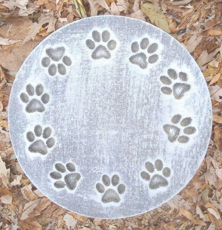 Gostatue MOLD Ring Of Pawprints Plaque Plastic Mold For Plaster Concrete  Mould. Plastic MoldsGarden Stepping StonesPlasterConcrete