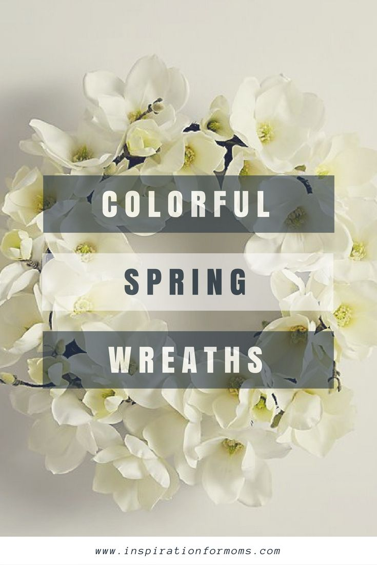 15 colorful spring wreaths to make or buy
