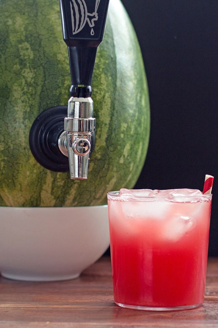Watermelon Cocktail Keg -  ingredients: mint leaves, sugar, vodka, watermelon. Yum!