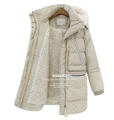 2014 tučný jahňacia vlna zimný kabát dámske oblečenie zimná bunda žena v dlhom bundu veľké veľkosti zimné bundy Dámske bundy