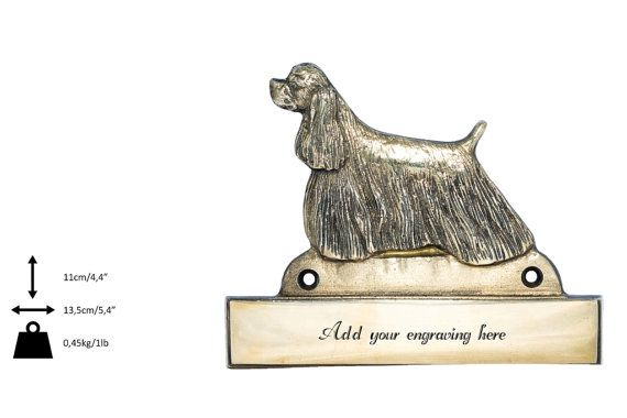 American Cocker Spaniel dog plaque can be by ArtDogshopcenter