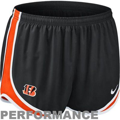 Nike Cincinnati Bengals Women's Tempo Performance Running Shorts - Black