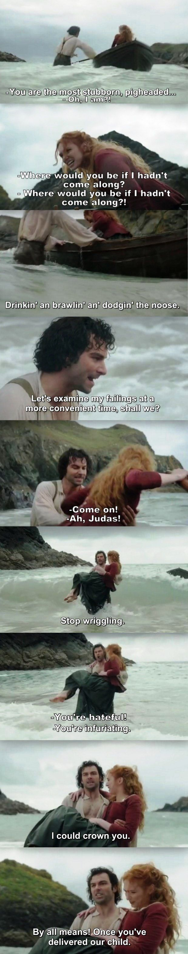 """""""You're the most stubborn, pigheaded!"""" - Ross and Demelza #Poldark"""