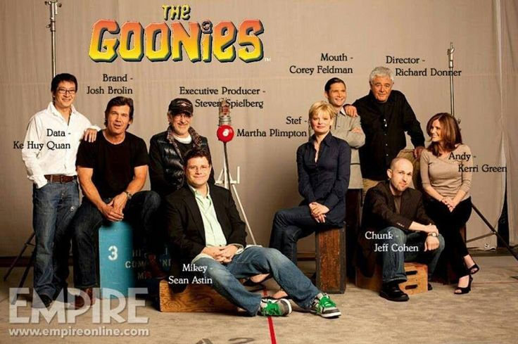 Goonies Never Say Die… Super fun photo of the Goonies cast now. Check out Chunk!