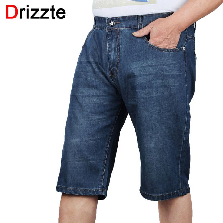 Drizzte Brand MenS Fashion Jeans Shorts Trendy Short Blue Denim Big Tall Jean Trousers Pants