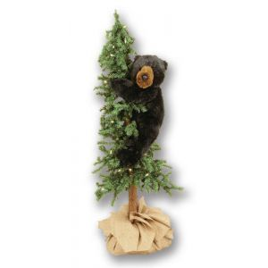 4 Artificial Christmas Tree With Bear Item 70216 Natural