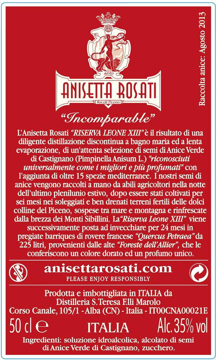 https://flic.kr/p/PVGSru | Riserva Leone XIII Retro Etichetta | #AnisettaRosati #AscoliPiceno #AnisettaRosati1877 #Anisetta #Anisette #Anice #AniceVerde #AniceVerdediCastignano #Marche  #RegioneMarche #Italia