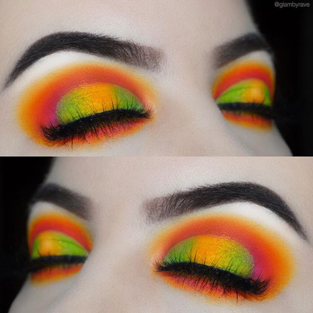 """What did you babes think of this look? Comment below! - Color inspo: @maverickparrot @loganpaul @maverickbyloganpaul - PRODUCTS: EYES: I used all @sugarpill eyeshadows for this look! I used love+, buttercake, flamepoint, midori, acidberry and poison plum BROWS: @anastasiabeverlyhills dipbrow pomade in ebony ️ @eyeko tinted brow gel ️ LASHES: @prettifylashes in """"affair"""" (use code """"glambyrave5"""" for 5% off) HIGHLIGHT: @makeuprevolution highlighter in ice kiss CONTOUR: @nyxcosmetics blus..."""