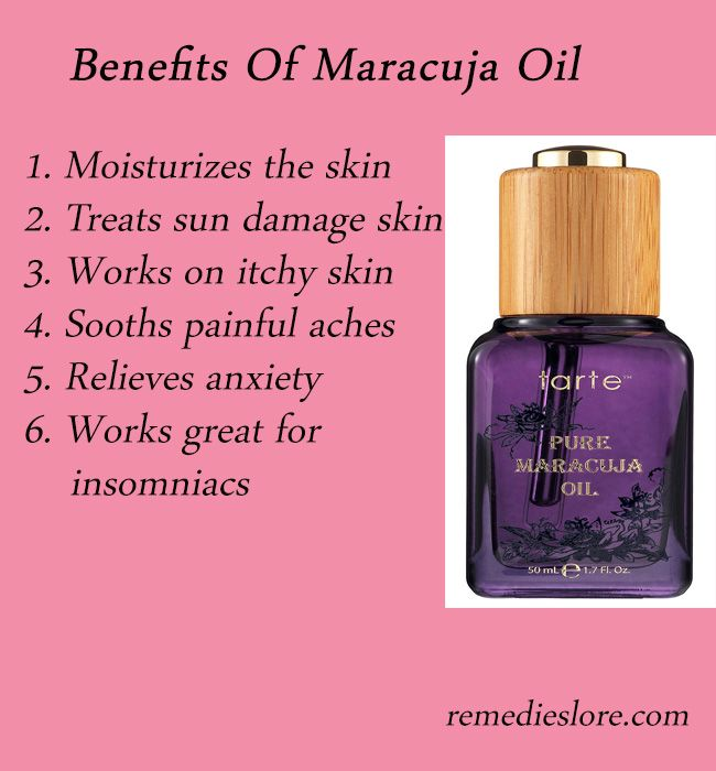 Health Benefits of Maracuja Oil Maracuja oil is the oil extracted from passionflower plant as well as from the seeds of passion fruit which are rich in oil. http://remedieslore.com/health-benefits-of-maracuja-oil/