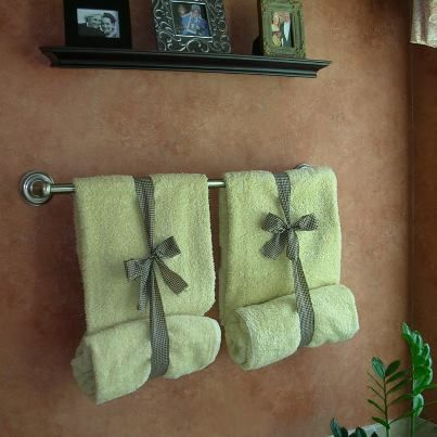 ways to display bathroom towels google search - Towel Design Ideas