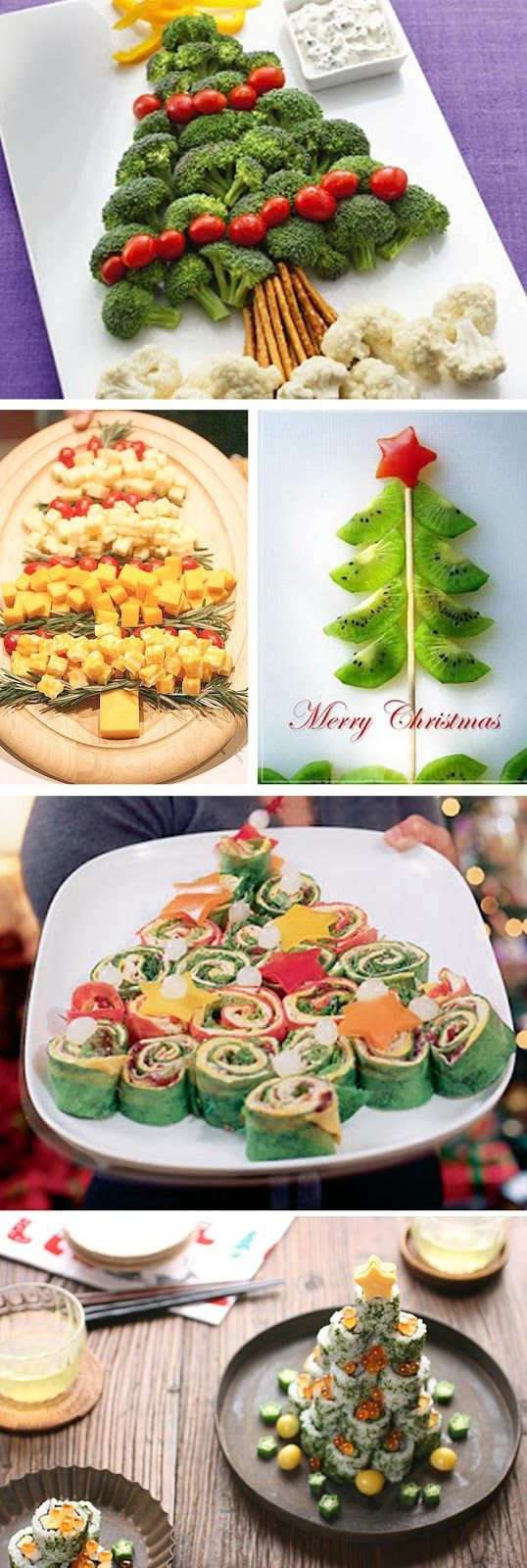 Navidad en nuestros platos | Christmas tree appetizer presentation.