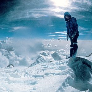 Reinhold Messner at the summit of Nanga Parbat...26,657 feet...August 9, 1970
