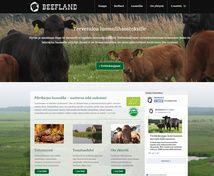 Beefland Projektina: WordPress WooCommerce Verkkokauppa/kotisivut perustuen valmiiseen ulkoasuun.