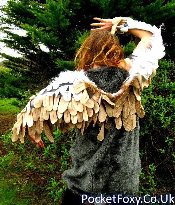 READY TO SHIP! Bird Wings Owl Eagle Crow Angel Feather Feathered Realistic Costume Adults Kids Customize Your Colour Custom Cosplay Valkyrie