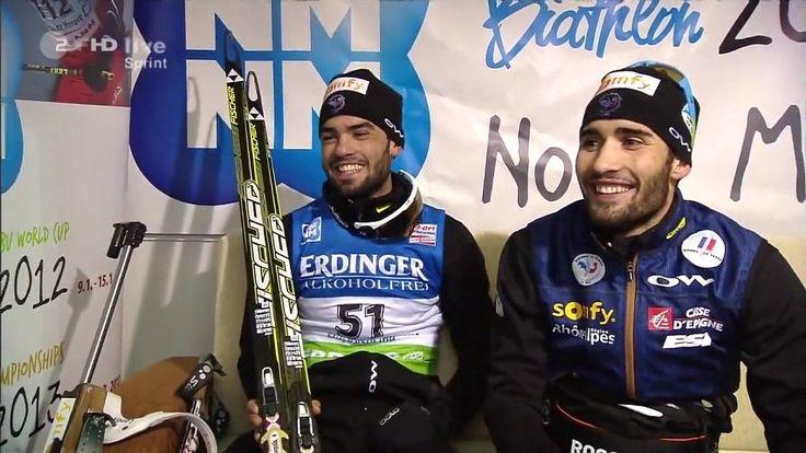 Martin et Simon Fourcade à quelques minutes d'un podium historique !! 20110114 | PopScreen