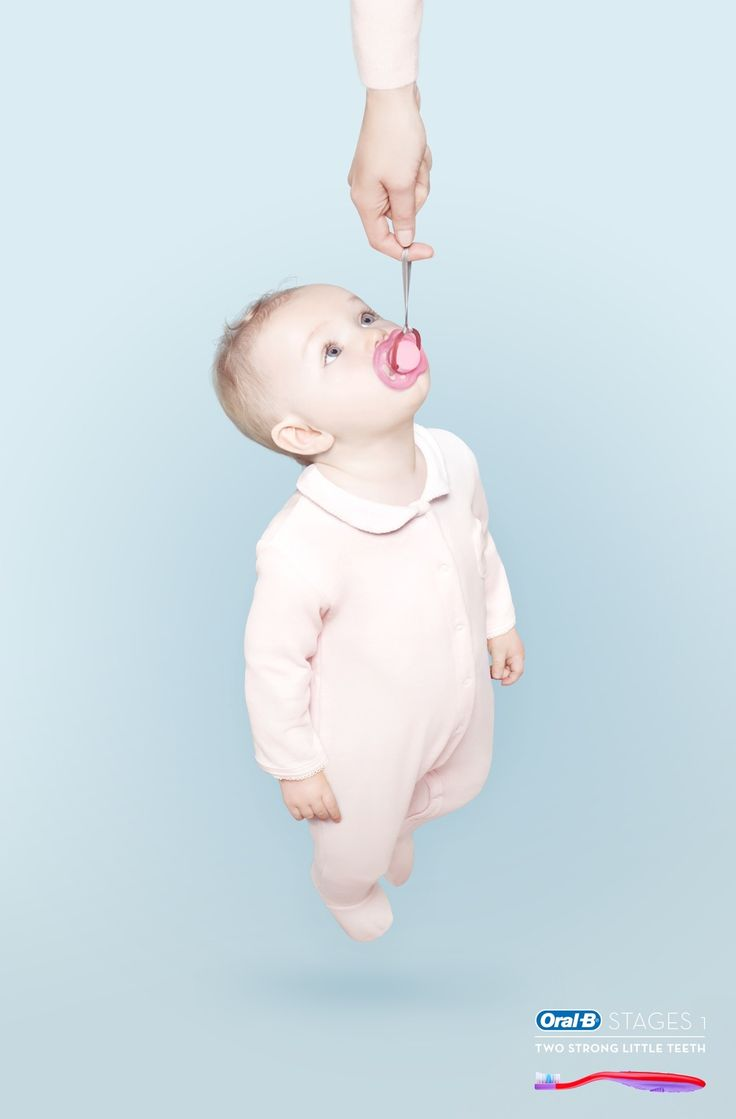 Oral-B: Strong, 1 Oral-B Stages1. Two strong little teeth. Advertising Agencies: Publicis Brussels, Brussels, Be