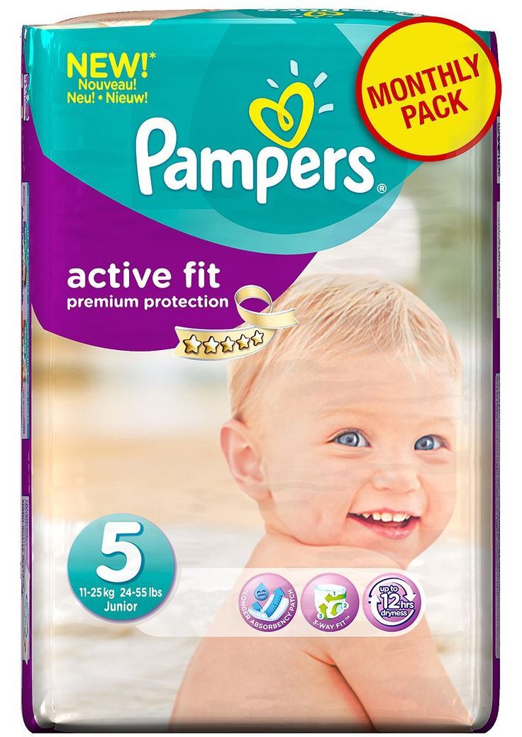 Pampers Active Fit Junior No. 5 (1125 kg) Monthly Pack