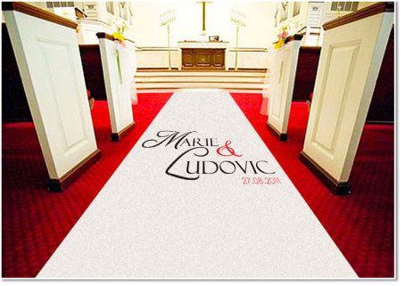 tapis mariage personnalise